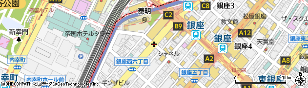 銀座西5周辺の地図