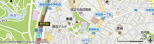 東郷神社周辺の地図