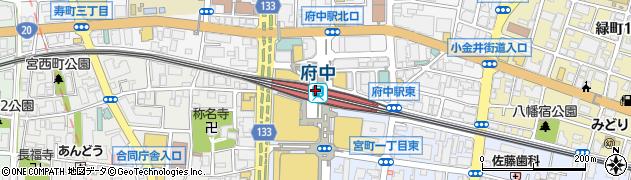 東京都府中市周辺の地図