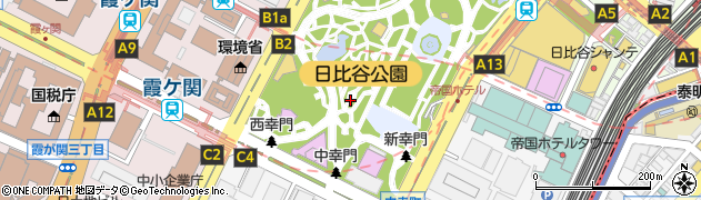 東京都千代田区日比谷公園周辺の地図