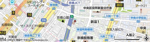 東京都中央区新富1丁目4-5周辺の地図