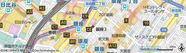 東京都中央区銀座3丁目2-11周辺の地図