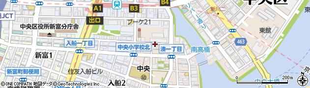 東京都中央区湊1丁目周辺の地図