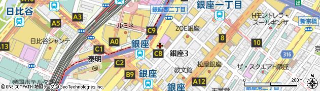 東京都中央区銀座3丁目2-16周辺の地図