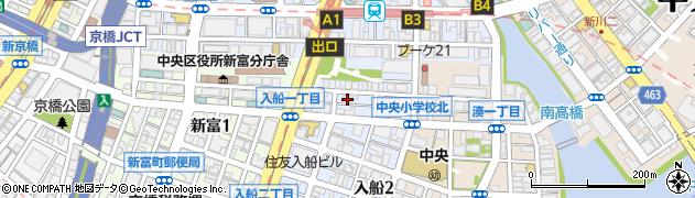 朝日八丁堀マンション周辺の地図