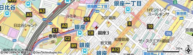 東京都中央区銀座3丁目2-10周辺の地図