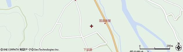 岐阜県中津川市付知町(下倉屋)周辺の地図