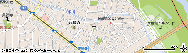 東京都日野市下田周辺の地図