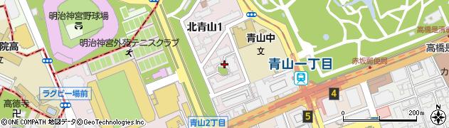都営北青山一丁目アパート周辺の地図