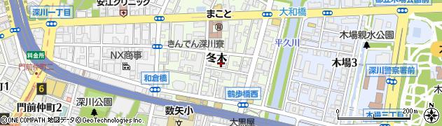 東京都江東区冬木周辺の地図