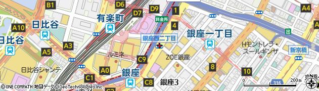 銀座西2周辺の地図