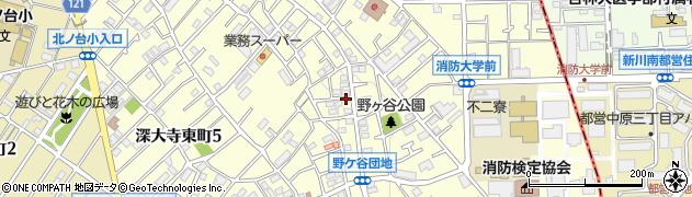 東京都調布市深大寺東町周辺の地図