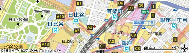 東京都千代田区有楽町周辺の地図