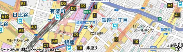 やきやき三輪 銀座店周辺の地図