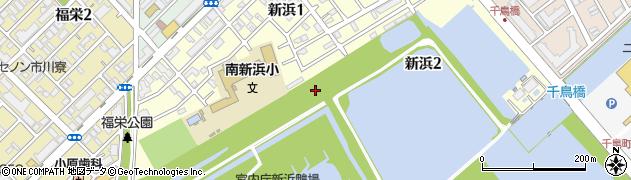 千葉県市川市新浜周辺の地図