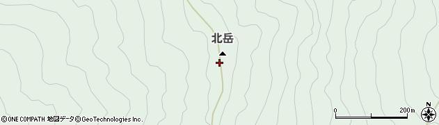 北岳周辺の地図