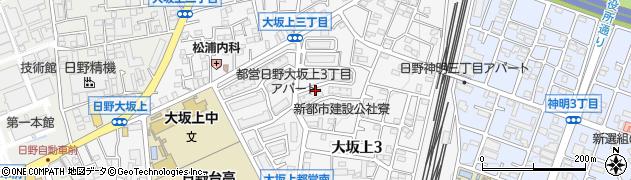 東京都日野市大坂上周辺の地図