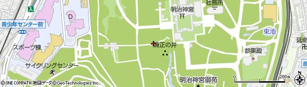 東京都渋谷区代々木神園町周辺の地図