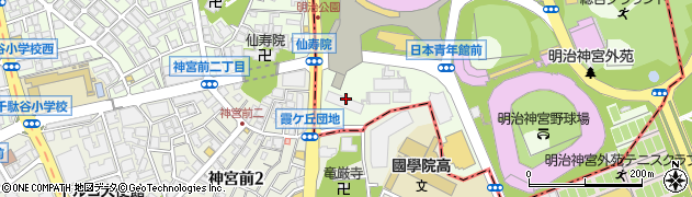 東京都新宿区霞ヶ丘町周辺の地図