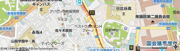 東京都港区赤坂3丁目3-3周辺の地図