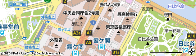 東京都千代田区霞が関周辺の地図