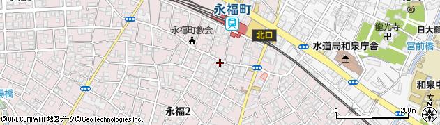 東京都杉並区永福2丁目周辺の地図