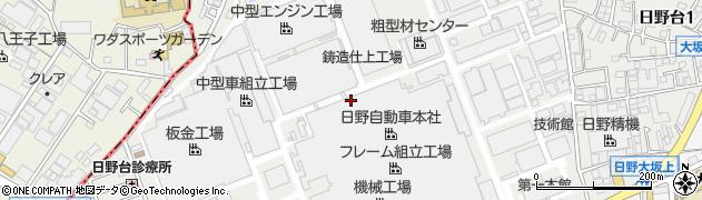 東京都日野市日野台周辺の地図
