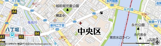 東京都中央区新川周辺の地図