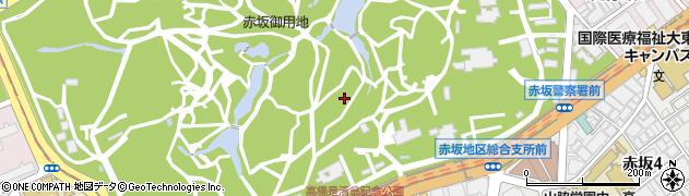 東京都港区元赤坂2丁目周辺の地図