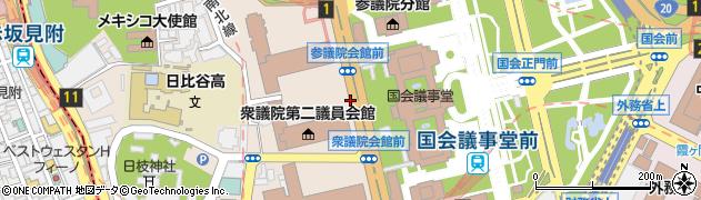 東京都千代田区永田町周辺の地図