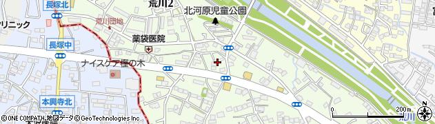 山梨県甲府市荒川周辺の地図