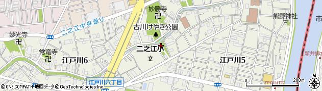 二之江神社周辺の地図