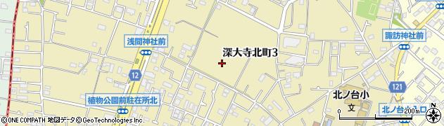 東京都調布市深大寺北町周辺の地図
