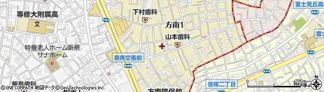 東京都杉並区方南周辺の地図