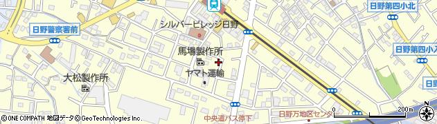東京都日野市日野周辺の地図