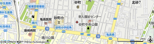 北砂四丁目住宅周辺の地図