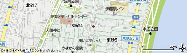 東京都江東区東砂周辺の地図