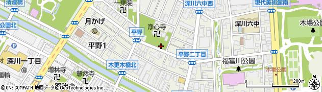 東京都江東区平野2丁目周辺の地図