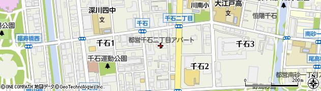 東京都江東区千石周辺の地図