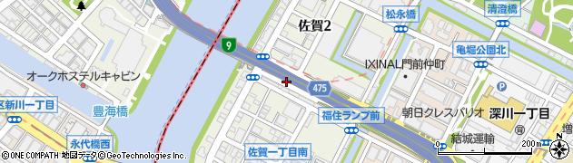 東京都江東区佐賀周辺の地図