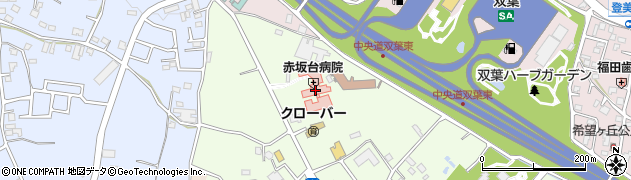 赤坂台病院周辺の地図