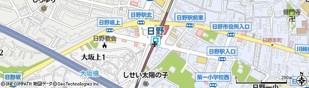 東京都日野市周辺の地図