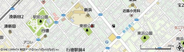 郵政社宅周辺の地図