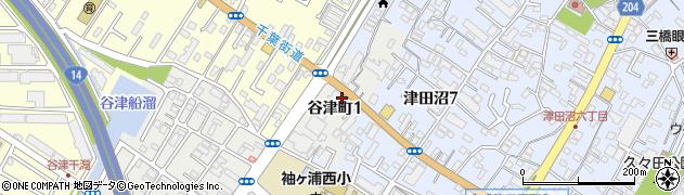 千葉県習志野市谷津町周辺の地図