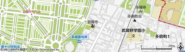 普賢寺周辺の地図
