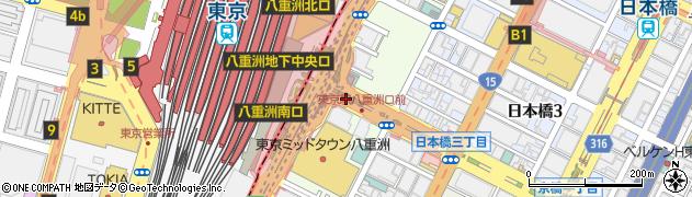 東京都中央区八重洲周辺の地図