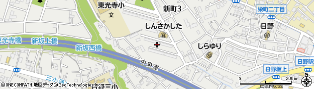 都公社新坂下住宅周辺の地図