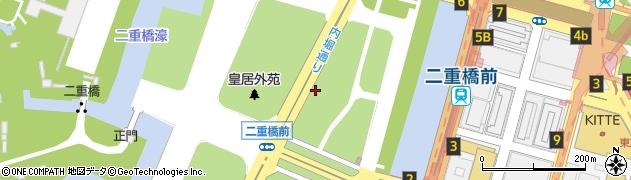 東京都千代田区皇居外苑周辺の地図
