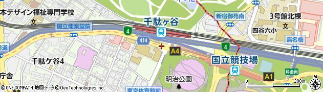 千駄ヶ谷駅周辺の地図