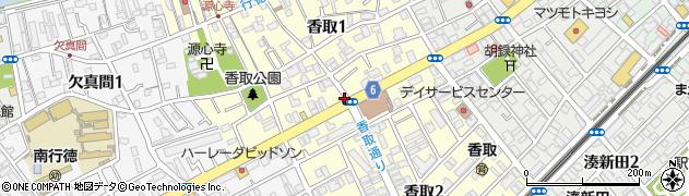 千葉県市川市香取周辺の地図
